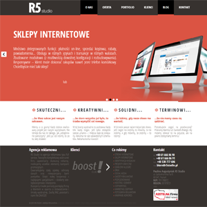 Strona internetowa R5 studio